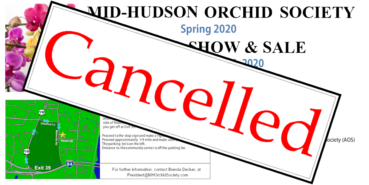 Mid Hudson Orchid Society Spring 2020 Show & Sale