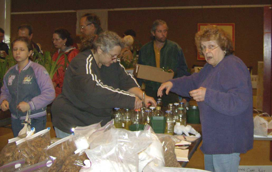 Georgette Martin selling supplies